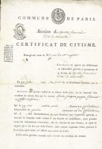 1793 Certificat de civisme